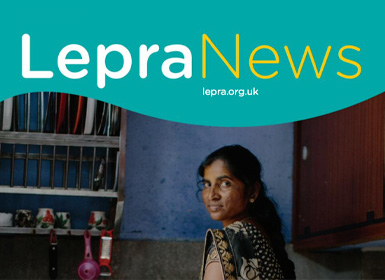A cover of Lepra News