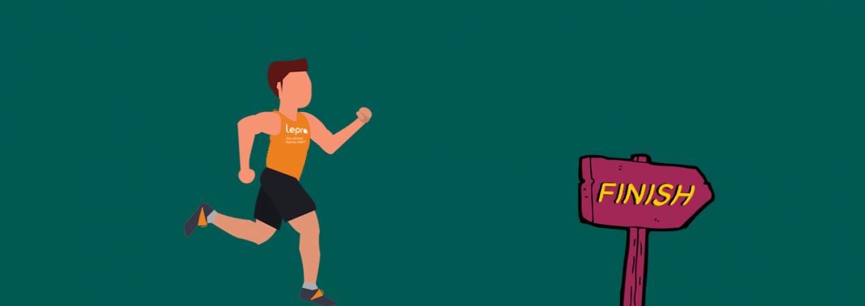 An illustration of a man running