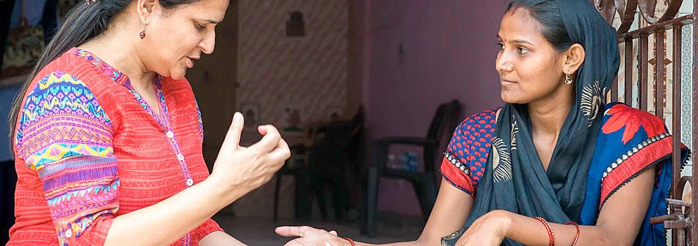 Two women undertaking the mental motivator pilot project