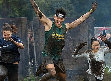 Runners in the Spartan Race Series