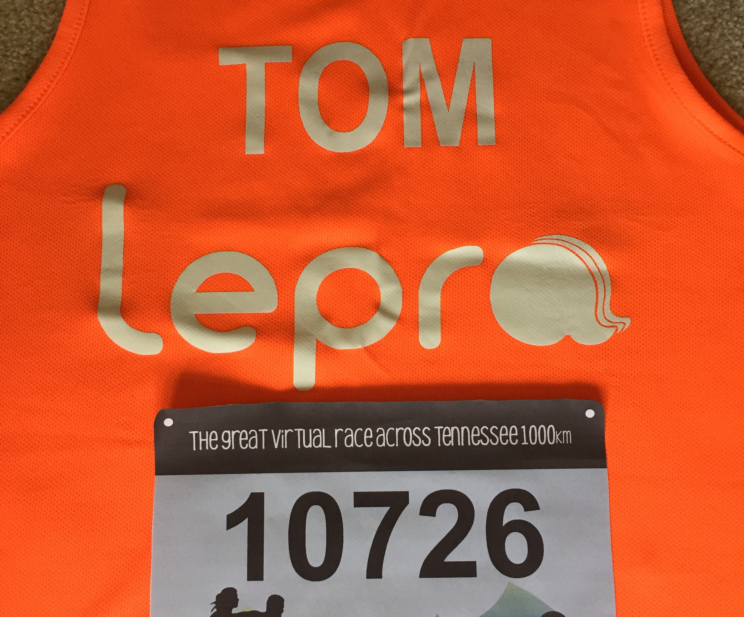 Tom's vest and label