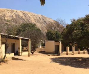 Mutemwa Leprosy Care Centre with Chigona Rock in the background